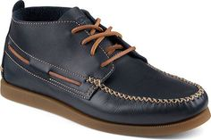 Mens Top-Sider A/O Ankle Crepe Leather Boot (9.5, Navy) Sperry Top-Sider
