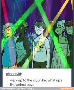 I SEE DIRK STRIDER ON HER SHIRT <--- yes, that is because cheese3d, the artist, is a homestuck.