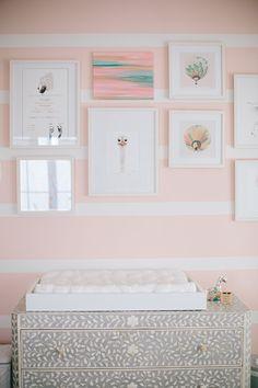 Modern pink girls nursery and newborn photos by Melissa Warner and Heather Kincaid | 100 Layer Cakelet