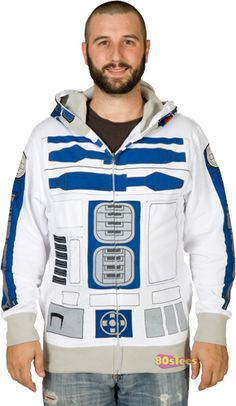 R2-D2 Costume Hoodie, a bit big, but would be so much easier than making the costume from scratch.