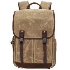 designer camera bags (5) Camera Backpack, Camera Bags, Canvas Backpack, Laptop Backpack, Canvas Book Bag, Rucksack Bag, Waxed Canvas, School Bags, Travel Bags