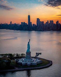 Liberty Enlightening the World, Ellis Island, New York City, New York, USA.