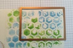 Water color paint & an embossing folder. Splitcoast stampers - Tutorials