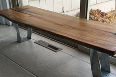 Live Edge Coffee Table/Bench Reclaimed Locally by HausOfSeVo