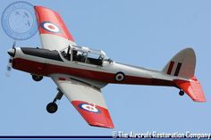 The De Havilland Canada DHC-1  Chipmunk is a fully aerobatic two seat training aircraft, and was the standard, post-war primary trainer for the RAF, ARMY and NAVY. The Aircraft Restoration Company (ARC)