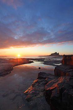 Stunning shot of Bamburgh Castle #Northumberland #Bamburgh Castle #coast