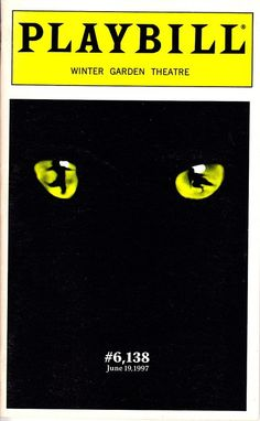 Cats on Broadway (Playbill of the record-breaking night) at Wintr Gardn Theatre