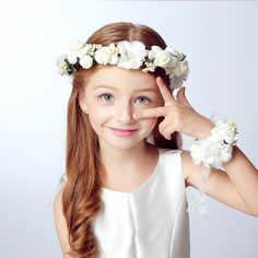 Wreath Girl Head Flower Crown Bridal Hair Accessories Artificial Flower Head Wreath For Hair Wedding Garland Headpiece 2016