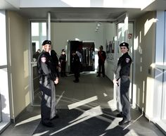Members of our Cadets proudly hold the doors open for our guests. Grand Opening, Calgary, Hold On, Abs, Doors, Suits, Fashion, Slab Doors, Moda
