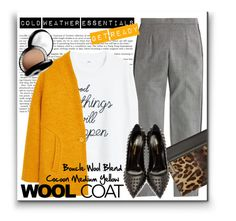 """""""Cold weather essentials!"""" by karolinaneverkarolcia ❤ liked on Polyvore featuring J.Crew, MANGO, Victoria Beckham, Yves Saint Laurent and Chantecaille"""