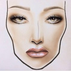 #facechart ✌️ Anastasia Beverly Hills contour kit and brow pro palette, YSL #10 on the lips