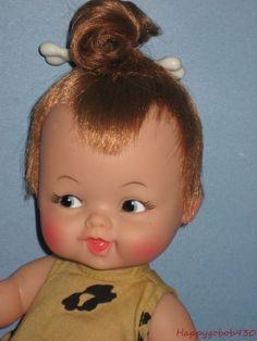 Vintage 1964 Tiny Pebbles Flintstones 11 5 Doll Ideal Complete Excellent Dolls Branding Companies And Bear