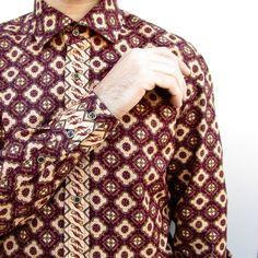 Mens Shirts – Indonesian Batik Men Shirt BATIK WINE – a unique product by HiLoSoFia via en.DaWanda.com