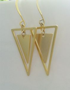 Hey, I found this really awesome Etsy listing at https://www.etsy.com/listing/188440244/triangle-earring-triangle-earrings-gold