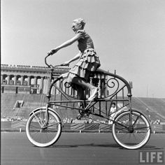 1948. A time when it was all better :)  Cool Bikes, and the men & women were pretty.