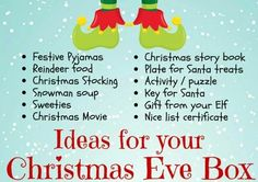 This item is unavailable Ideas for you to add to a personalised Christmas eve box Night Before Christmas Box, Its Christmas Eve, Winter Christmas, Christmas Eve Box Ideas Kids, Xmas Ideas, Christmas Activities, Kids Christmas Presents, Christmas Stuff, Traditional Christmas Presents