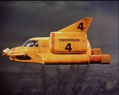 The Thunderbird carried by the Thunderbird 2 from the UKTV series Thunderbirds. The Supermarionation show from Gerry & Sylvia Anderson ran from 1965 to Thunderbird 1, Thunderbirds Are Go, Classic Sci Fi, Opening Credits, Cult, Batmobile, Old Tv, Vintage Toys, Retro Toys