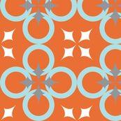 Orange Mod Circle - audreyclayton - Spoonflower