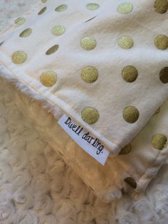 Hey, I found this really awesome Etsy listing at https://www.etsy.com/listing/187938717/gold-dot-blanket-minky-baby-blanket