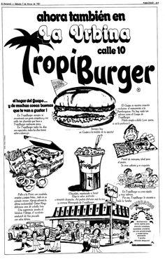 Tropi Burger. Página publicada en El Nacional el 07 de marzo de 1981.