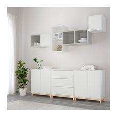 EKET Kaappi+jalat - valkoinen/vaaleanharmaa - IKEA