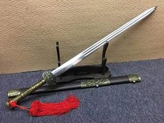 Fengyun sword,Damascus steel blade,Rosewood scabbard,Alloy fitting,Length 41 inch