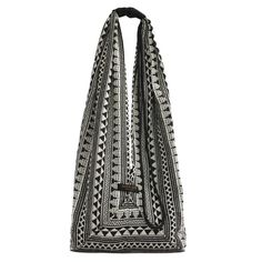 Long Jogi Bag  in Geometric or Aztec Jacquard by Aura Que. Each AURA QUE design is brought to life in a Nepalese factory that employs local people, some affected by disabilities, providing an income for themselves and their families according to fair trade principles. AURA QUE products are individually hand crafted in Nepal. #fairtrade