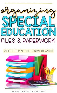 A video tutorial to help keep all of your IEP paperwork and student work samples organized and in one place. Only at Mrs. D's Corner.