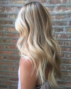 Sandy blonde balayage #ombrehairblonde