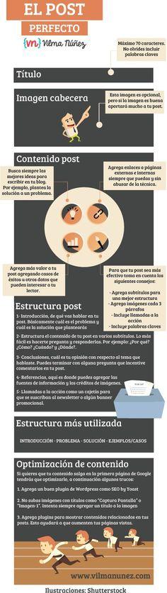 Fuente│Vilma Núñez: #Infografía – Cómo escribir el post perfecto para tu blog