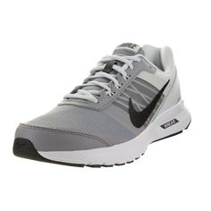 Keep your feet happy while running with the lightweight breathable design of these Nike running shoes. With a grey pattern and black accents, the shoes bring comfortable style to your shoe collection.