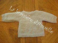 CHAPITRE 14 - Tricoter une brassière niveau débutante, en un seul morceau. Modèle gratuit. - L'atelier tricot de Mam' Yveline. Bebe Baby, Lily, Knitting, Sweaters, Clothes, Messages, Agate, Fashion, Debutante