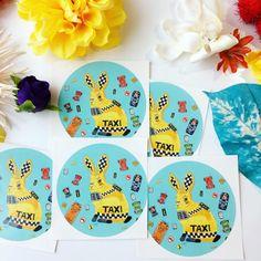 Taxi Rabbit Sticker
