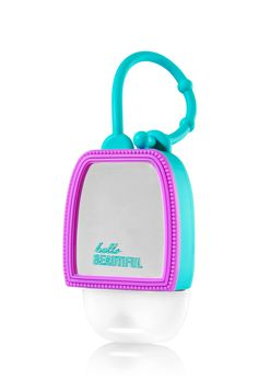 Bath & Body Works Mirror Mirror PocketBac Holder | A must-have! This mini mirror attaches to your backpack, purse & more so you can always keep your favorite PocketBac close at hand.