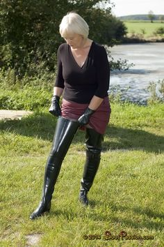 Mature secretary boots