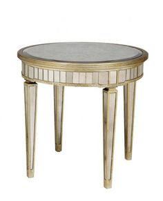 Round End Tables Mirrored Furniture And Mirror On Pinterest