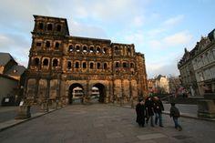 Roman gate at Porta Nigra in Trier, Germany.....