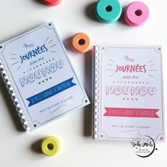 Cahier nounou cahier de liaison parents-nounou par LesJolisMots