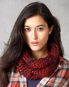 Wide, cabled cowl perfect for winter. Given extra texture when knit as shown with Bernat Really Big. free pattern