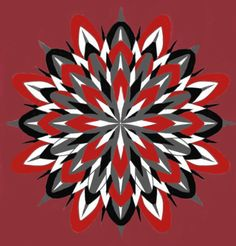 Red Star Mandala Done With Autodesk SketchBook