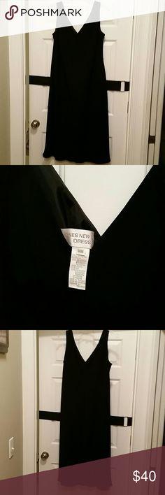 New never worn Black Dress Women size black below knee special occasion dress Jones New York Dresses