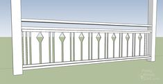 I want to add charm and character to my home. I found this tutorial on building flat sawn baluster railings. Looks super easy to do. Porch Railing Designs, Balcony Railing Design, Railing Ideas, Porch Balusters, Front Porch Railings, Porch Over Garage, Craftsman Porch, Porch Paint, Decks And Porches