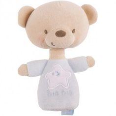 Le hochet ours de la collection Lunes et étoiles par Tuc Tuc est doux et enfantin ! Il accompagnera bébé partout.