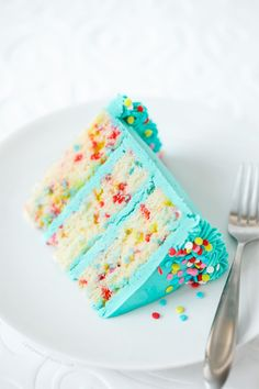 Frosted Funfetti Layer Cake from http://@Lindsay Dillon Dillon Landis | Love and Olive Oil