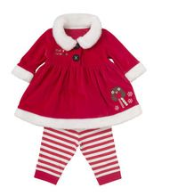 1-5Years girls Christmas clothing sets baby girls cothes cartoon girls cotton coat+pants 2 pieces autumn kids clothing set(China (Mainland))
