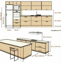 Top 45 Useful Standard Dimensions - Engineering Discoveries Kitchen Room Design, Kitchen Cabinet Design, Modern Kitchen Design, Home Decor Kitchen, Kitchen Furniture, Interior Design Living Room, Furniture Design, Interior Modern, Küchen Design