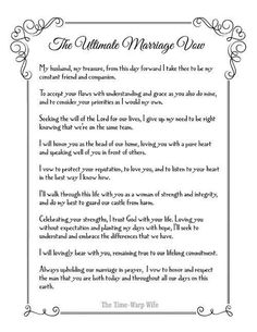 Wedding vows older couples
