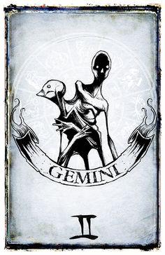 Artist Shows The Dark Side Of Zodiac Signs With Creepy Sketches Creepy Sketches, Creepy Drawings, Dark Art Drawings, Art Sketches, Zodiac Art, Zodiac Signs, Gemini Art, Dark Art Illustrations, Arte Obscura