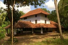 Typical house in Kerala Kerala Architecture, Vernacular Architecture, Village House Design, Village Houses, Dream Homes, My Dream Home, Kerala Homes, Composition Painting, Indian House