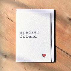special friend card, best friend card, bff card, thank you friend card by Designerpoems on Etsy